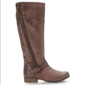 Steve Madden Laury Boot Brown Studded Tall
